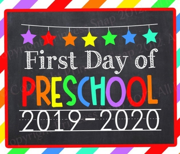 first day of PreSchool 2019-2020
